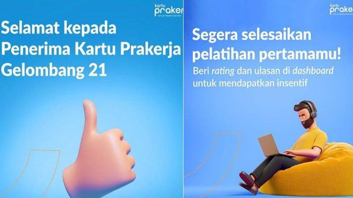 Cara Ikut Pelatihan Bagi Penerima Kartu Prakerja Gelombang 21, Cek Dashboard www.prakerja.go.id