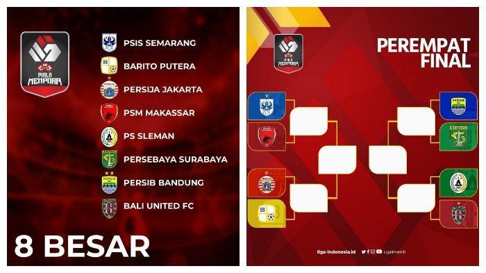 JADWAL Piala Menpora 2021 Live Indosiar Masuki Perempatfinal, PSIS vs PSM & Persib vs Persebaya