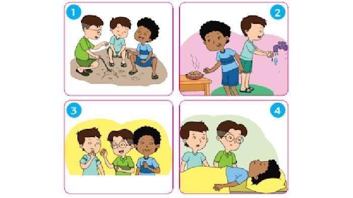 KUNCI JAWABAN Tema 1 Kelas 3 SD Pembelajaran 5 Hal 37-44, Buatlah Cerita Berdasarkan Gambar Berikut!