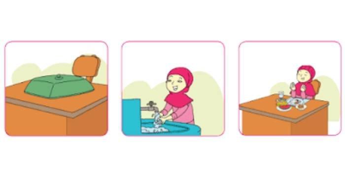 SOAL & KUNCI JAWABAN Tema 1 Kelas 3 SD Pembelajaran 5 Hal 37-44, Apa Saja Aturan Sebelum Makan?