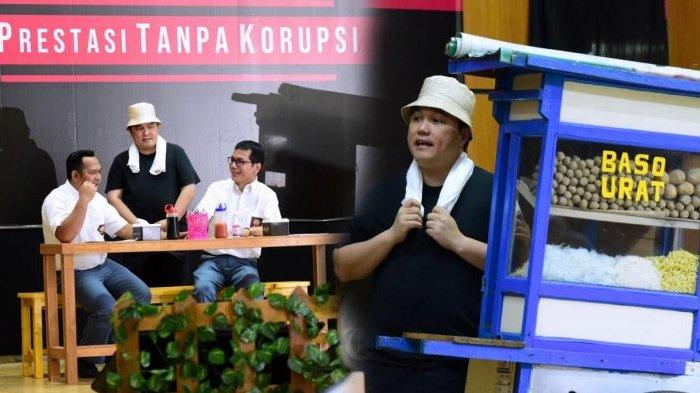 Peringati Hari Antikorupsi Sedunia, Erick Thohir Main Drama Jadi Tukang Bakso, Sindir Dirut Garuda