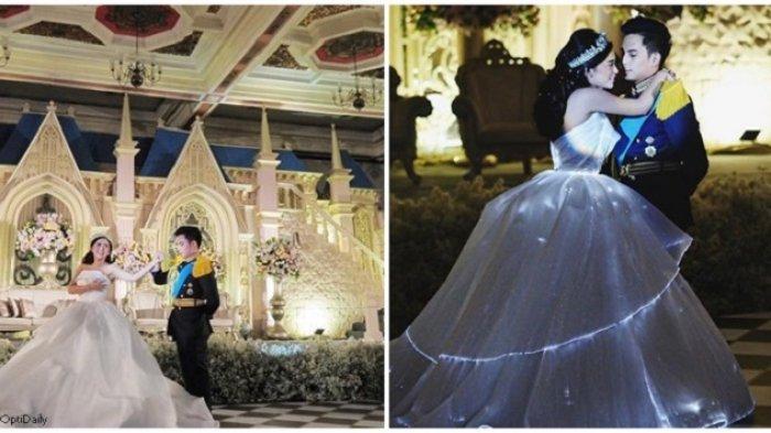 VIDEO Pernikahan Rachel Vennya & Niko Banyak Dicari Setelah Kabar Cerai, Gaun Mewah Bisa Menyala