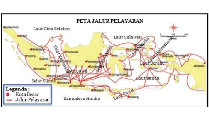 Persebaran pelabuhan di Indonesia
