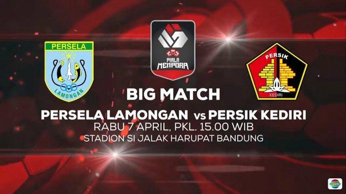 TONTON LIVE Streaming Persela Lamongan Vs Persik Kediri Piala Menpora 2021, Langsung di Indosiar