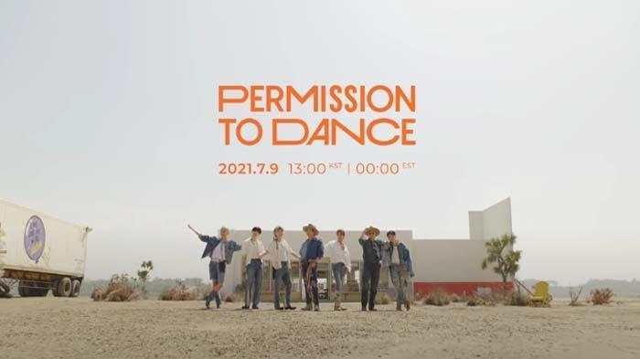 Personel BTS dalam teaser video musik lagu 'Permission to Dance'