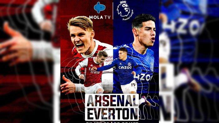 Jadwal dan Link Live Streaming Mola TV, Laga Liga Inggris Arsenal vs Everton di Stadion Emirates