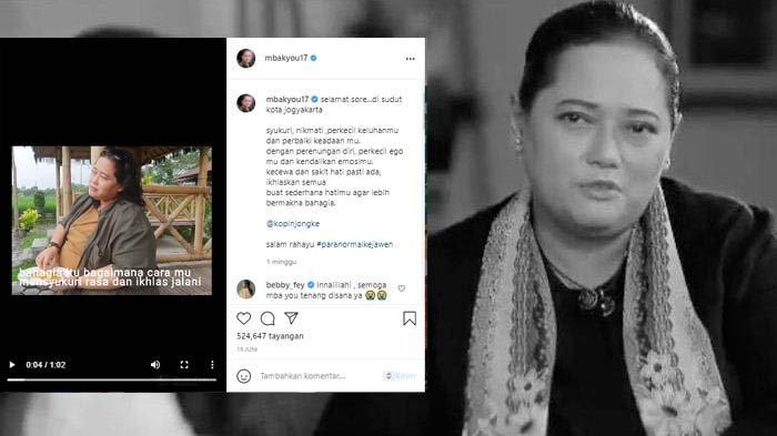 Mbak You Beri Pesan Terakhir Lewat Postingan di Instagram: Kendalikan Emosimu, Ikhlaskan Semua