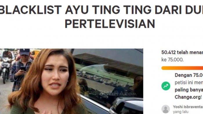 Petisi boikot Ayu Ting Ting