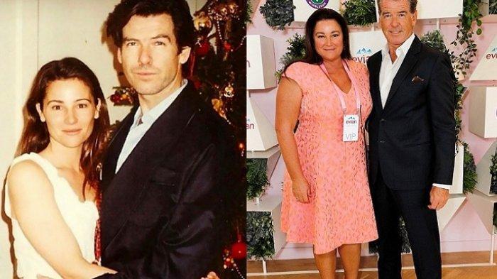 Pierce Brosnan dan istri, 20 tahun lalu dan sekarang