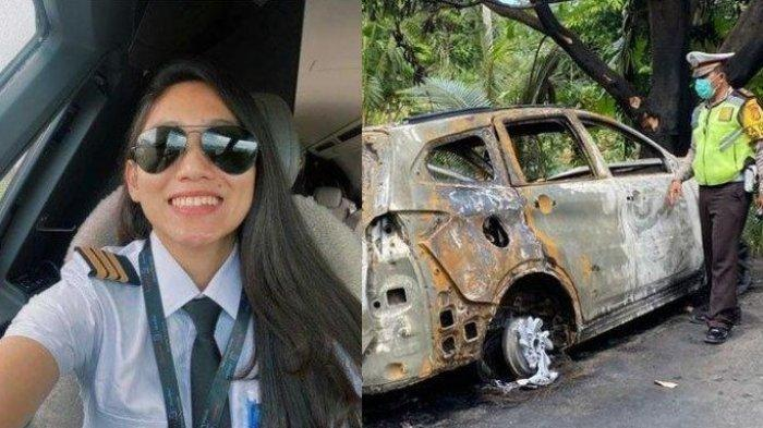 Pilot Cantik Athira Farina yang Dijodohkan dengan El Rumi Kecelakaan, Mobil Hangus Tinggal Rangka