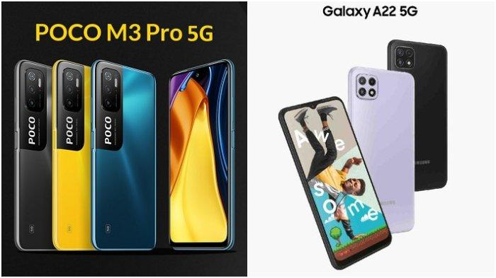 PERBANDINGAN Poco M3 Pro 5G vs Samsung Galaxy A22 5G, Ada NFC, Mana Ponsel 5G Worth It & Termurah?