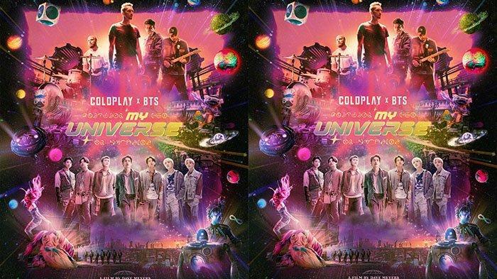 Poster My Universe hasil kolaborasi Coldplay dengan BTS