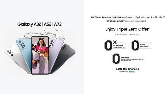 PROMO Samsung Galaxy A Series hingga 31 Mei 2021, DP 0 Rupiah & Cicilan 0%, Ada Bebas Biaya Admin
