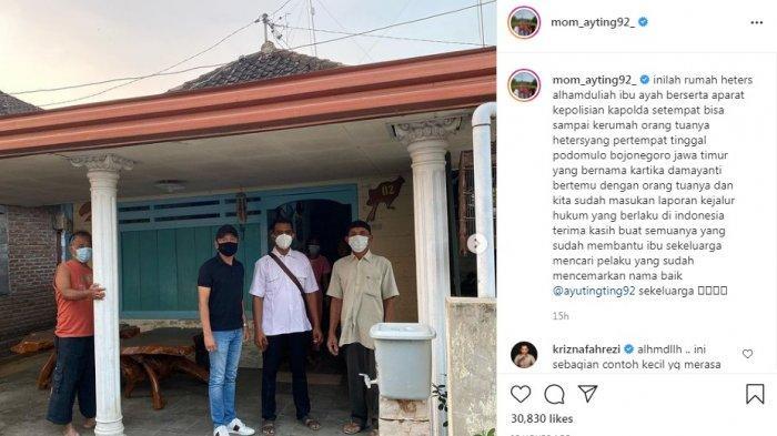 Orangtua Ayu Ting Ting datangi rumah pemilik akun haters.