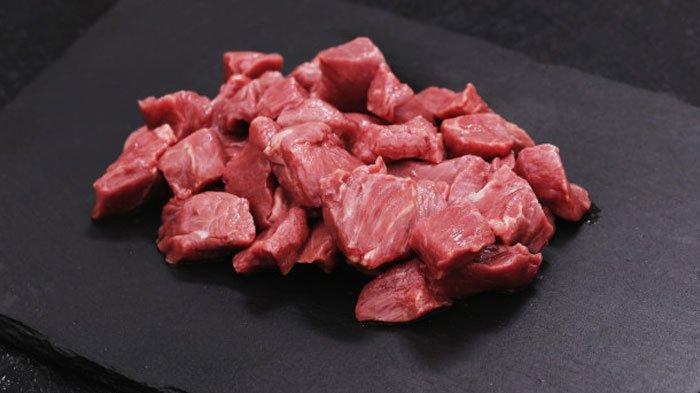 Ilustrasi daging sapi kurban Idul Adha 2021.