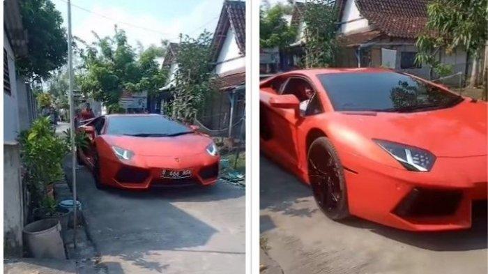 VIRAL Anak Kampung Berlarian Girang Ada Pengusaha Sukses Mudik Pakai Lamborghini, Masuk Gang Sempit