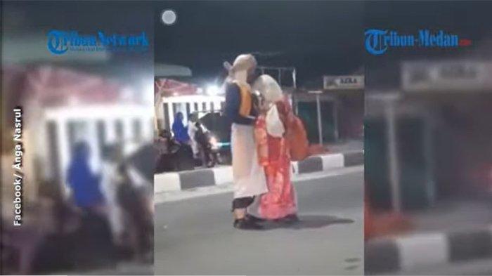 Bukan Gancet Cuma Pelukan, Pria Wanita di Video Viral Idap Gangguan Jiwa, Ketakutan Disoraki Warga