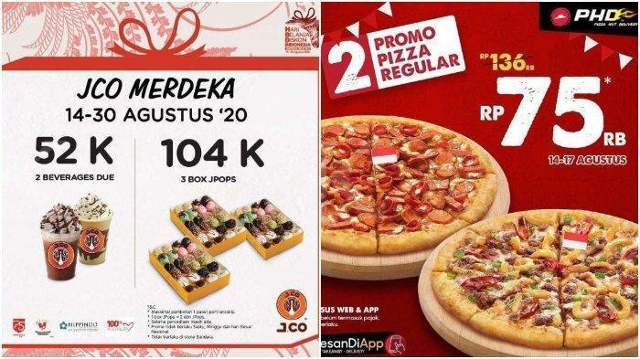 Promo Diskon HUT ke-75 RI 17 Agustus, 2 Reguler Pizza Hut Rp 75.000 & JCO 3 Boks Rp 104.000