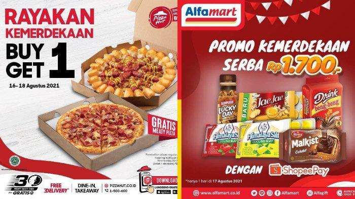 PROMO Kemerdekaan HUT Ke-76 RI Spesial 17 Agustus 2021: Shopee, McD, Alfamart, Pizza Hut & Indomaret