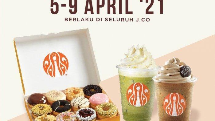 PROMO JCO Hari Ini Senin 5 April 2021, Nikmati I Love JCO 2 Lusin Donuts Harga Rp 105 Ribu