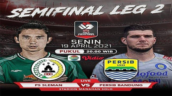 NONTON PSS Sleman vs Persib Bandung Semi Final Piala Menpora Sesaat Lagi di 3 Link Streaming Ini