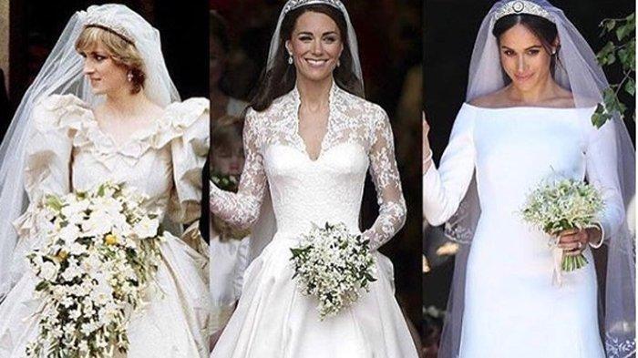 7 GAUN Pernikahan Termewah Sedunia, Dari Ratu Elizabeth Hingga Putri Diana, Termahal Rp 107 Miliar