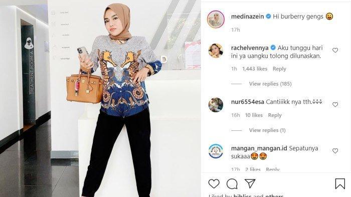 Rachel Vennya tiba-tiba tagih uang ke Medina Zein