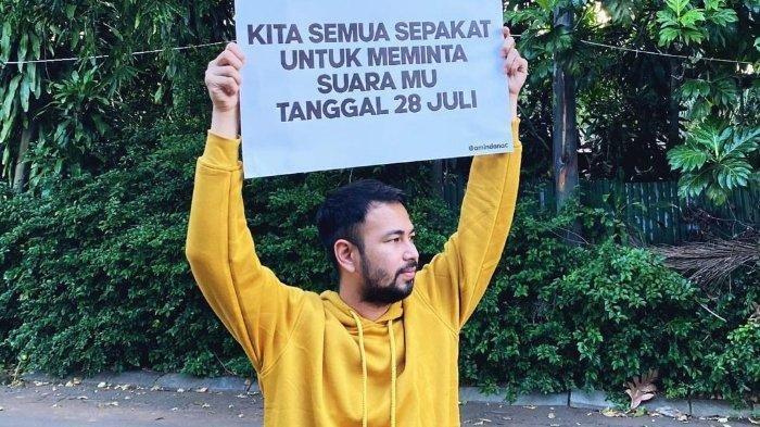 Rafi Ahmad ikut turun ke jalan ramaikan tanggal 28 Juli 2021