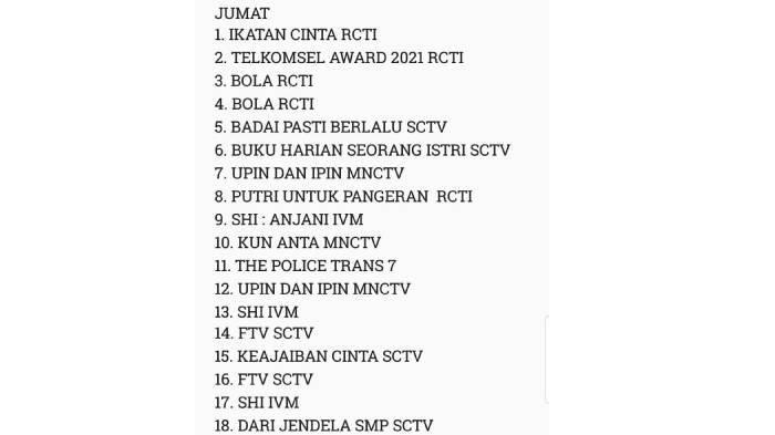Rating acara televisi