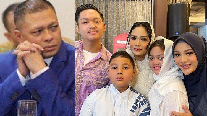 MOMEN Krisdayanti Foto Bareng 4 Anaknya di Pengajian Kehamilan Aurel, Reaksi Raul Lemos Disorot!
