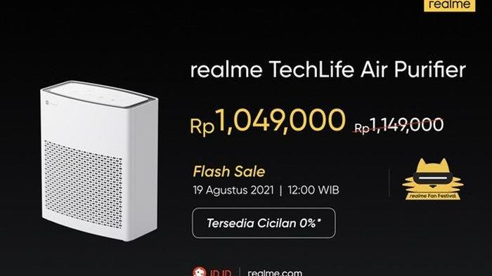 Harga dari realme Air Purifier yang bisa kalian beli di JD.ID dan realme.com.