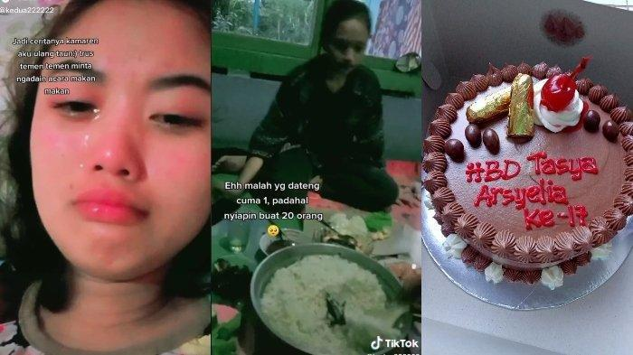 VIRAL Video Remaja Nangis Pesta Ultah Hanya Dihadiri 1 Teman, Sudah Masak 20 Porsi: 'Kasihan Mama'