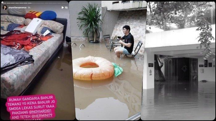 POTRET Sederet Seleb Ibu Kota Kebanjiran di Tahun 2021, Relakan Rumah Mewah Mendadak Jadi Kolam