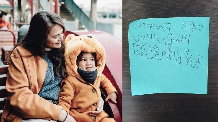 HARU Sabai Morscheck Baca Post-it dari Bjorka yang Ditempel, 'Mama kalo Udah Nggak Ada Virus . .'
