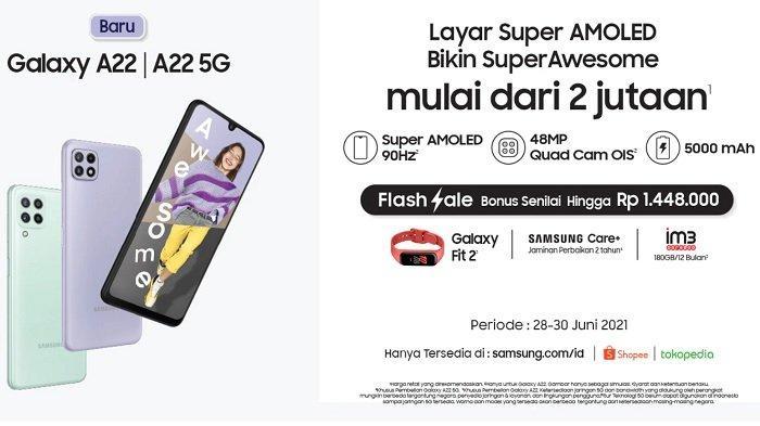 SPESIFIKASI Lengkap Galaxy A22 5G, HP 5G Murah Terbaru Samsung, Lebih Kuat dari Snapdragon 480