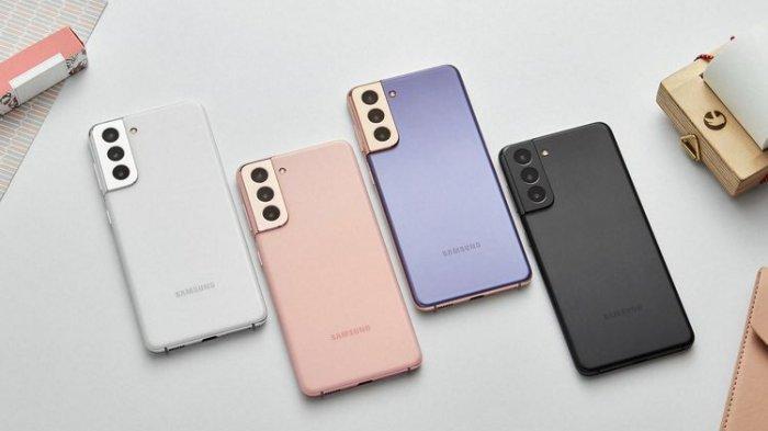 Samsung S21 Series dalam empat varian warna.