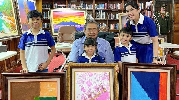 HARUNYA Momen SBY Dapat Kado Ultah Karya Cucu, Ada Cerita di Baliknya: Pepo, I Want to be Like You