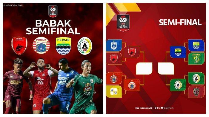 JADWAL PIALA MENPORA 2021 Persija Jakarta, Persib Bandung, PSS Sleman & PSM Makassar Lolos Semifinal