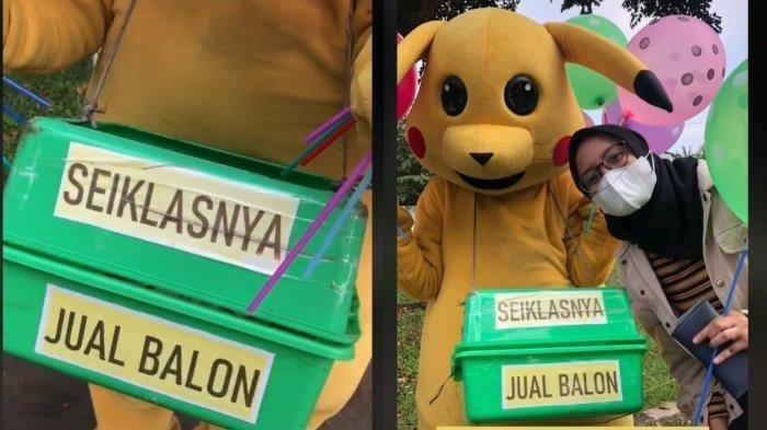 VIRAL Badut Penjual Balon Pasang Harga Seikhlasnya untuk Pelanggan, Kini Dapat Rezeki Tak Terduga