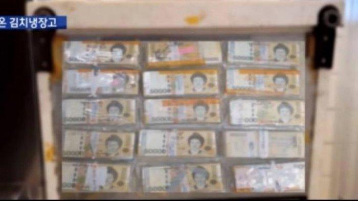 Seorang pria Korea Selatan kaget menemukan uang sebanyak Rp 1,3 milyar dari lemari es bekas yang dibelinya. (Sumber: MBC News Via World of Buzz)