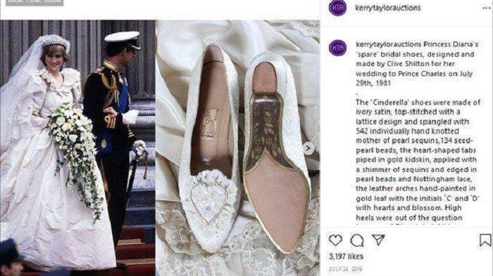 Sepatu pernikahan Putri Diana