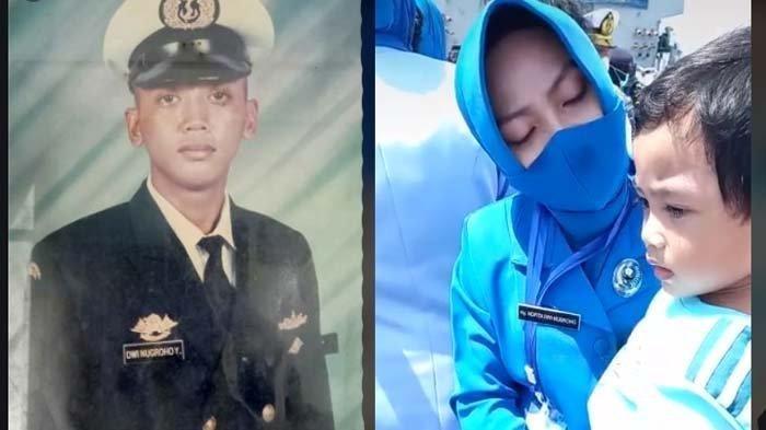 VIDEO Pilu Istri Serda Dwi Nugroho Tabur Bunga KRI Nanggala, Minta Anak Janji soal Ini, 'Dadah Ayah'