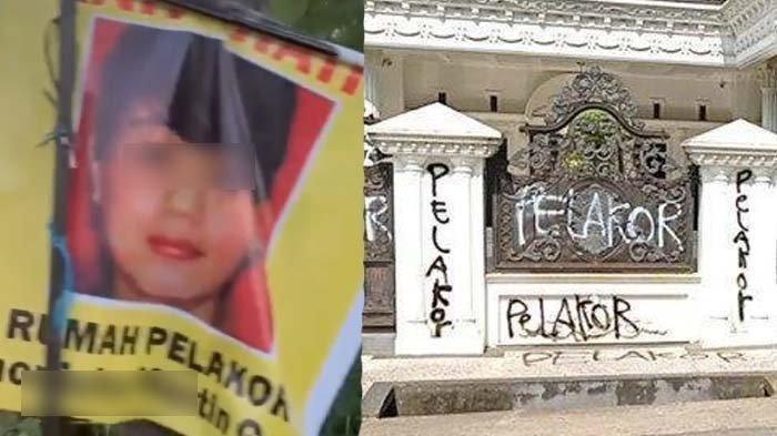 Viral Rumah Mewah Ditulisi Pelakor, Kini Tersebar Poster Diduga Pemiliknya, Istri Sah Beri Pesan