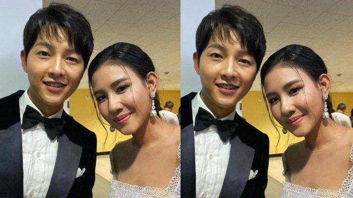 Shenina Cinnamon Foto Bareng Song Joong Ki di Busan International Film Festival, Rekan Artis Heboh