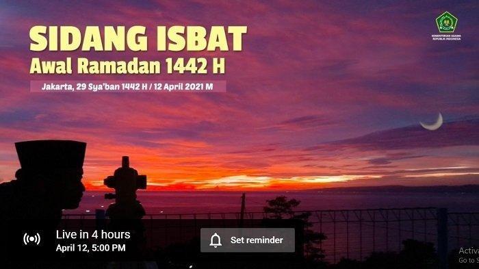 Sidang isbat penentuan 1 Ramadhan 1442 H.