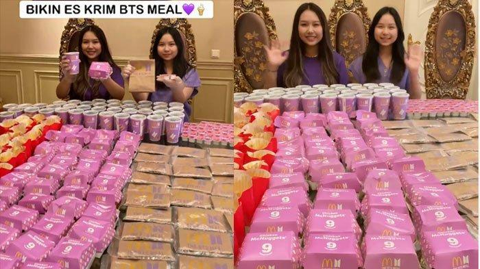 Tak Ketinggalan 'Hype' BTS Meal, Sisca Kohl Borong Makanan Edisi Terbatas McDonald, Simak Faktanya