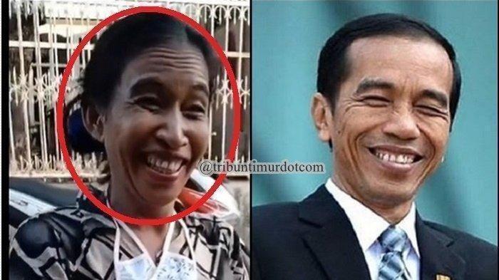 VIRAL Ani Pina, Emak-emak Punya Wajah Mirip Jokowi, Lihat Keduanya Tertawa Bak Saudara Kembar