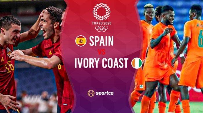 LIVE STREAMING Spanyol vs Pantai Gading Semifinal Olimpiade Tokyo 2020: Laga Penuh Gengsi Pemain U23