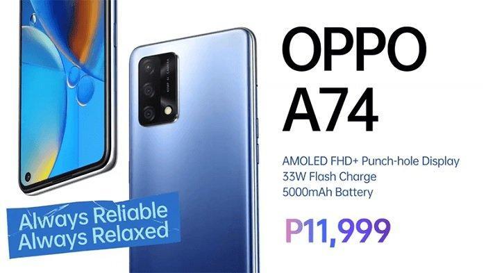 SPESIFIKASI & Harga Lengkap Oppo A74, Ada Versi 4G & 5G, Layar AMOLED, Snapdragon 662 & 480