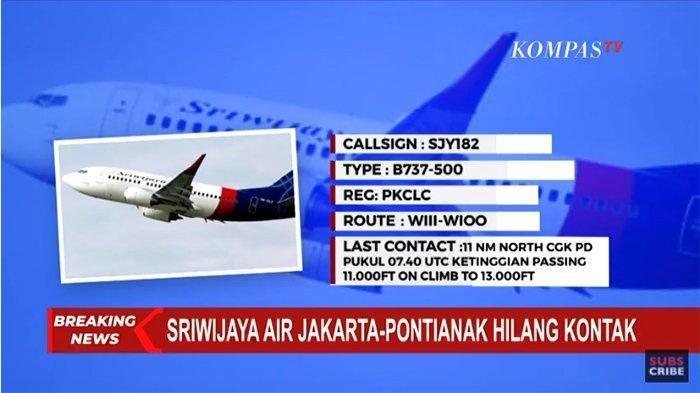 KETERANGAN LENGKAP Kemenhub Soal Korban Sriwijaya Air SJ 182 dan Evakuasinya, Via Live Streaming Ini